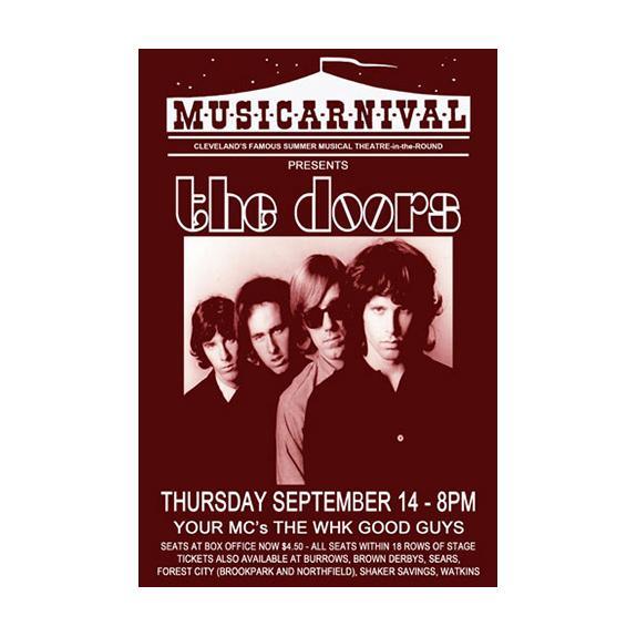 Doors 1967 Cleveland Concert Poster Raw Sugar Art Studio