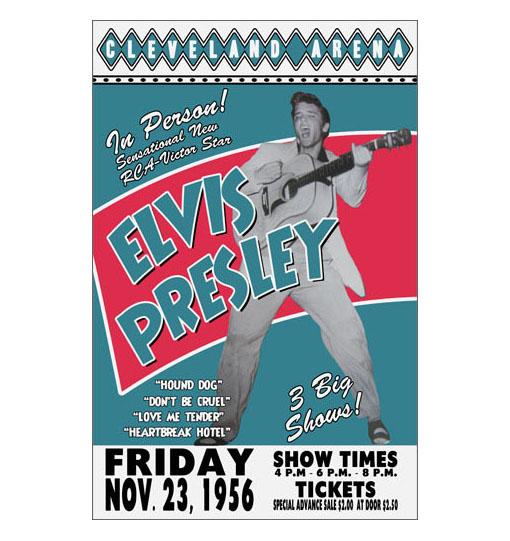 Elvis Presley 1956 Concert Poster