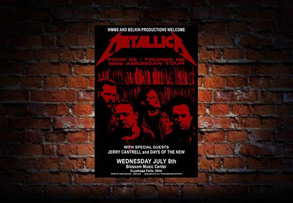 Metallica 1998 Concert Poster – Raw Sugar Art Studio