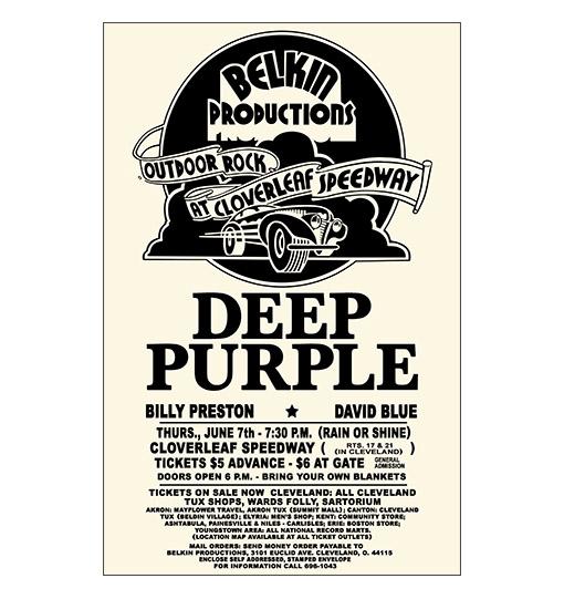 deep purple 1973 concert poster raw sugar art studio