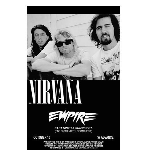 Nirvana 1991 Concert Poster Raw Sugar Art Studio